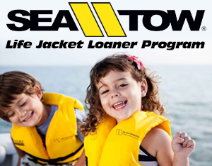Life Jacket Loaner Program by Sea Tow Foundation at Bluepoints Marina in Port Canaveral
