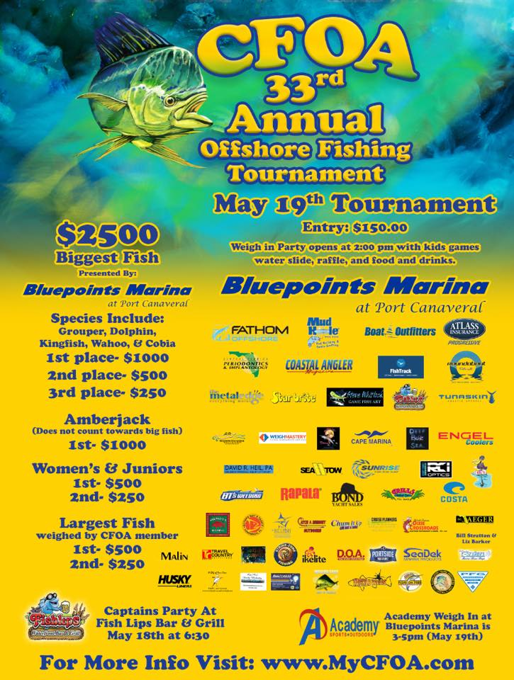 CFOA Fishing Tournament at Bluepoints Marina in Port Canaveral